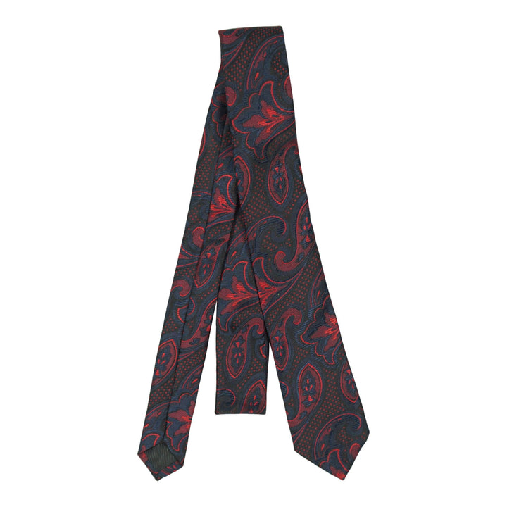 Blk/Red Paisley 48in tie