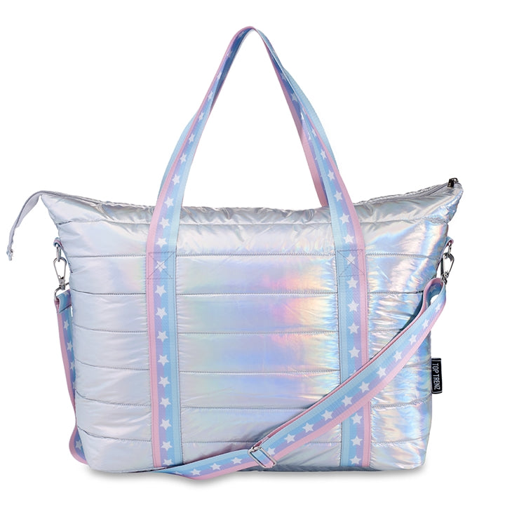 Puffer Tote with Star Strap