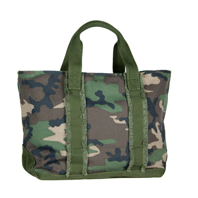 Green Camo Fringed Tote