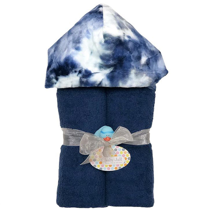 Navy Tie Dye Hooded Towel