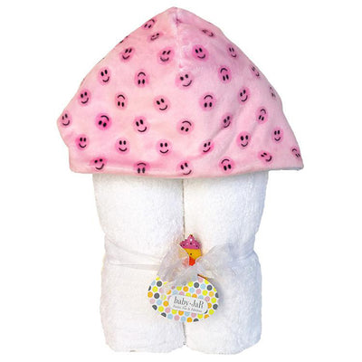Pink Smiley Hooded Towel