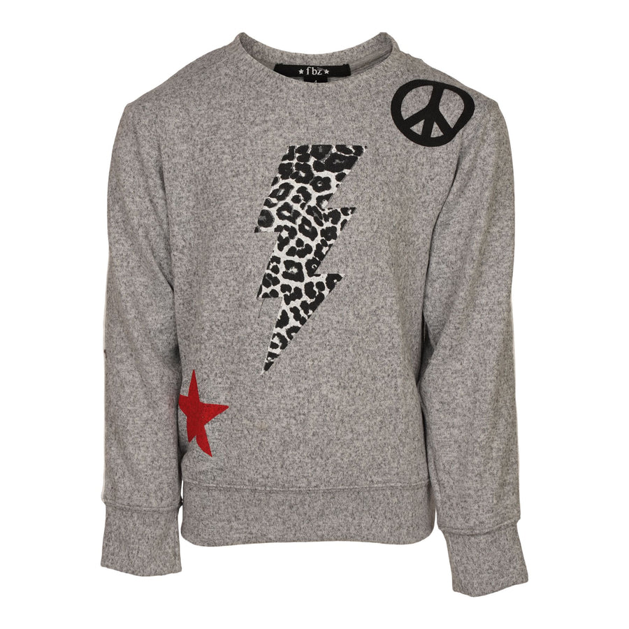 Peace Sign Bolt and Star Hacci Top