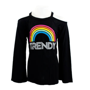 Cold Shoulder with Rainbow Trendy