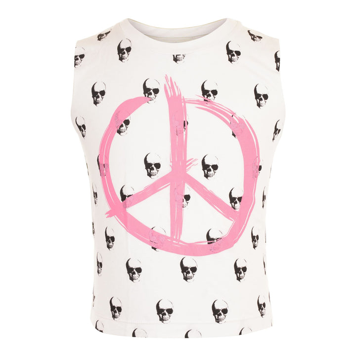 TANK WITH SKULLS AND PEACE SIGN