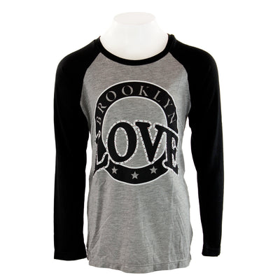 Black Raglan with Brooklyn Love