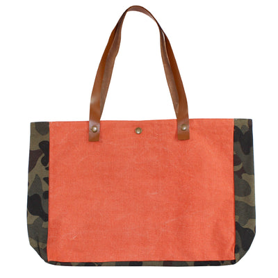 Orange n Camo Beach Bag
