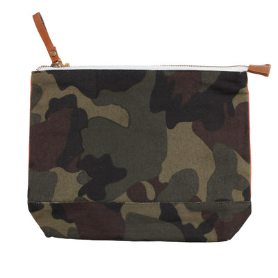 Cosmetic Pouch Orange Camo