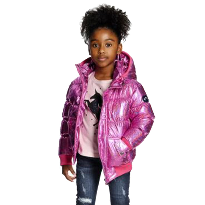 Pink Sparkle Puffy Coat
