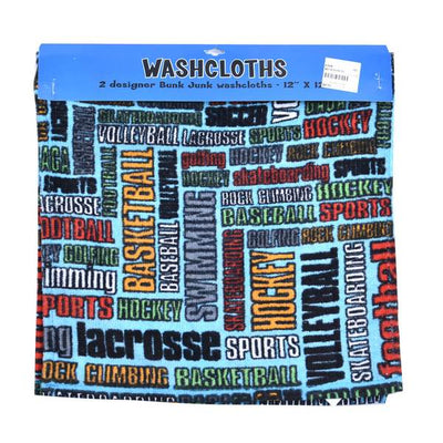 Sports Graffiti Wash Cloth Two Pack
