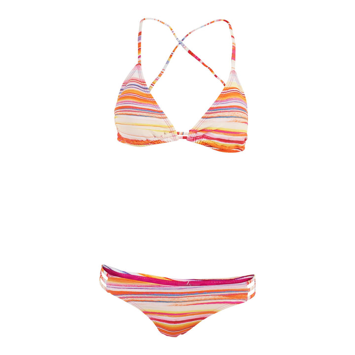 Sunset Stripe Triangle Top and Strap Bottom