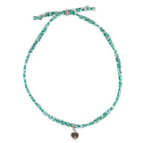 Leopard Color War Choker with Heart