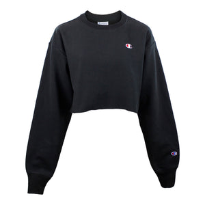 Reverse Weave Cropped Crew