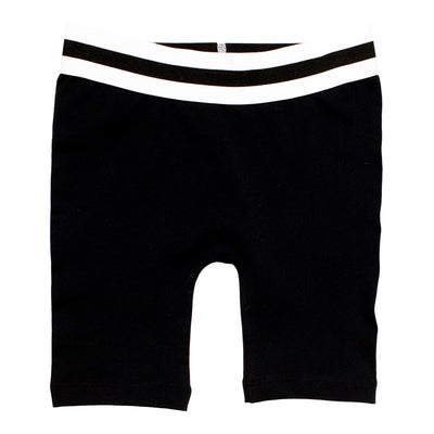 Bike Short with Black White Stripe Trim