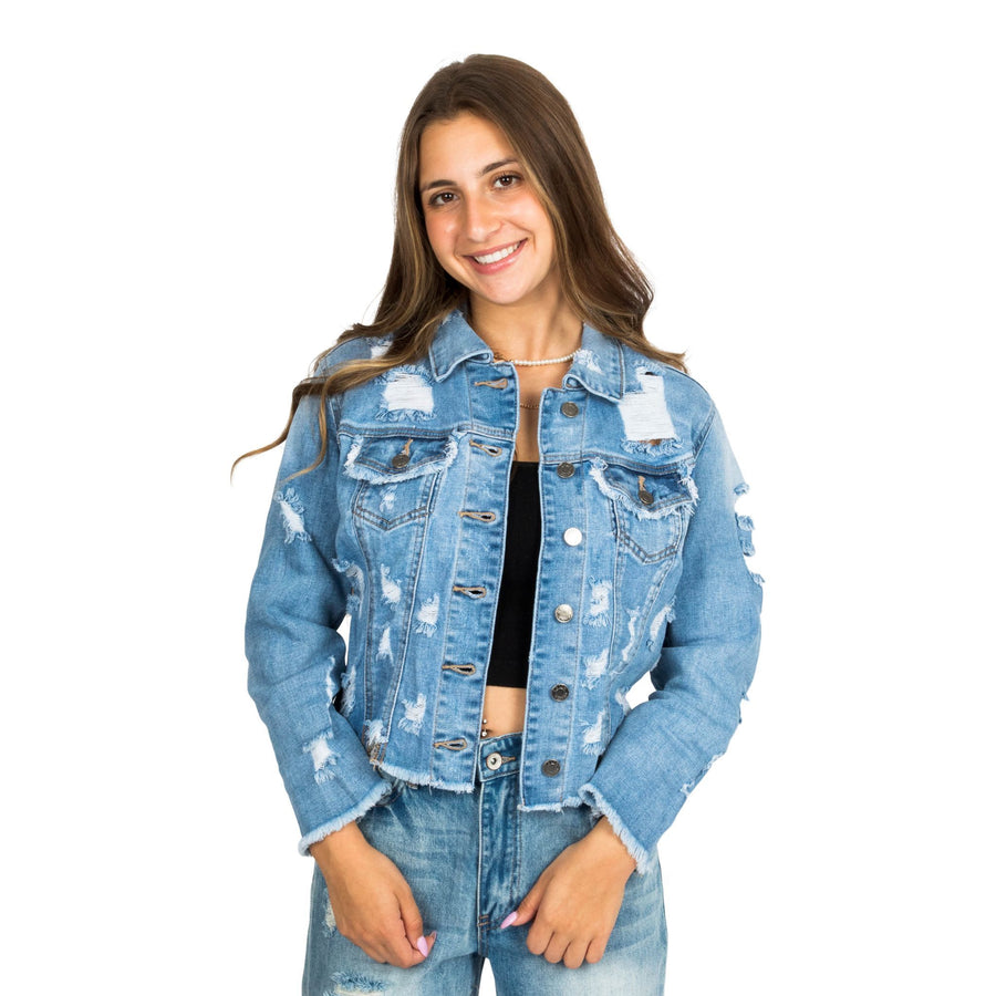 Shredded Denim Jacket