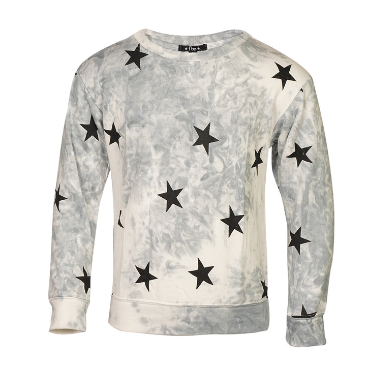 Black Star Tie Dye Sweatshirt