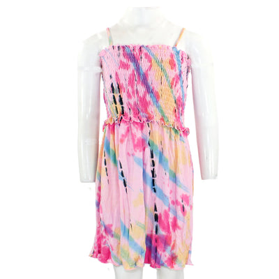Tye Dye Smocked Top Dress