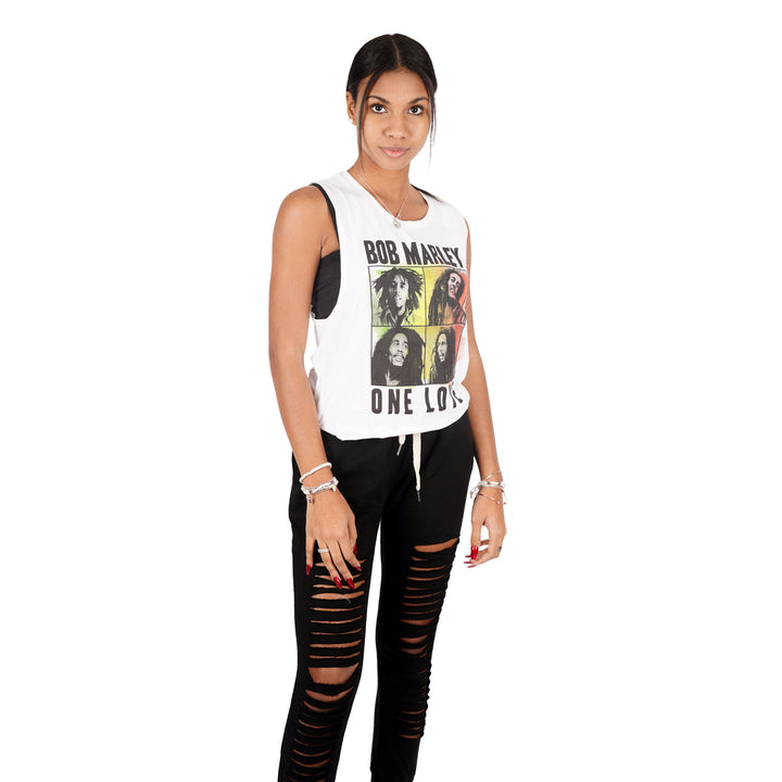 Bob Marley Crop Cut Muscle Tee