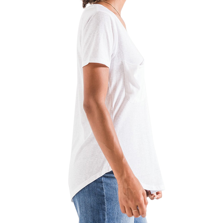 Triblend Short Sleeve Pocket V-Neck