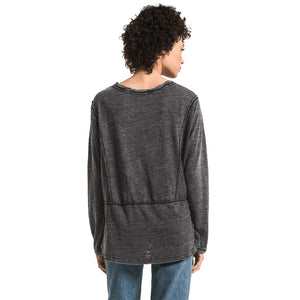 Long Sleeve Airy Slub Crew