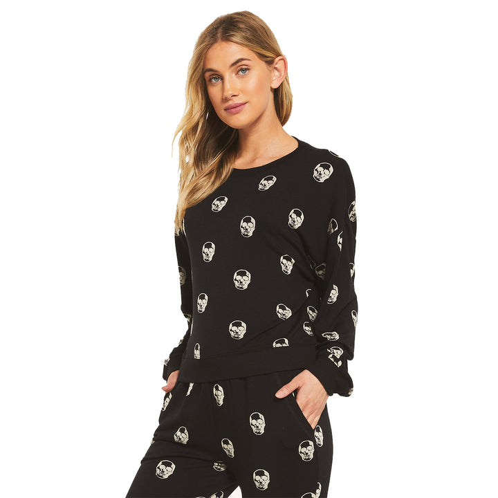 Skull Long Sleeve Crew Top