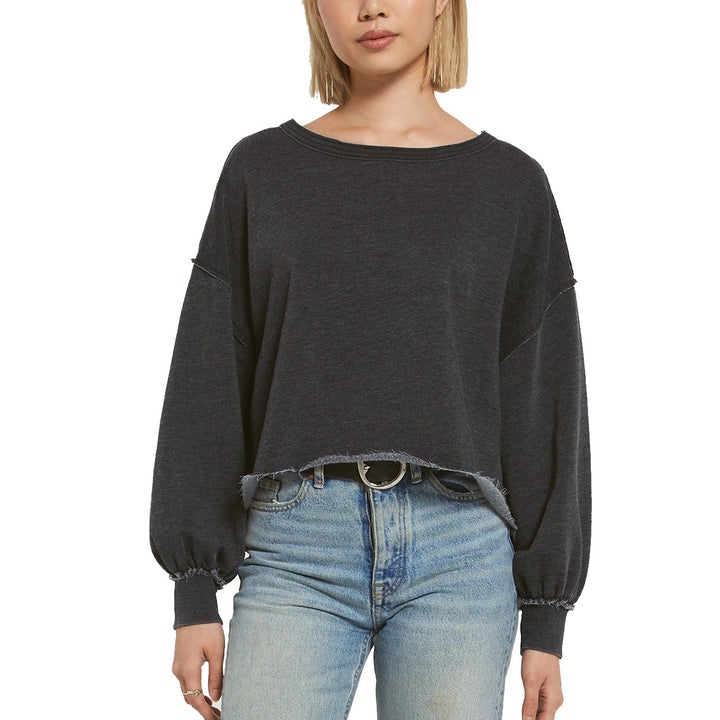 Tempest Raw Edge Crop Sweatshirt