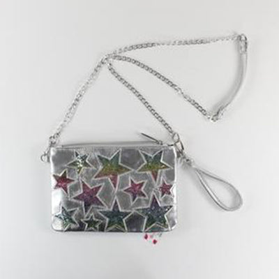Crossbody Bag with Glitter Stars