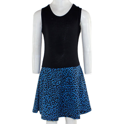 Black Tank Dress Blue Leopard Bottom