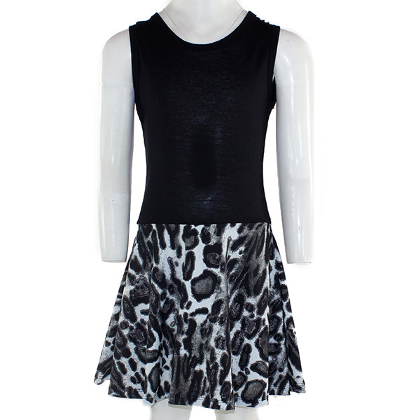 Black Tank Dress Grey Leopard Bottom