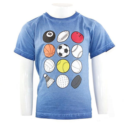 Short Sleeve Tee with Sports Balls