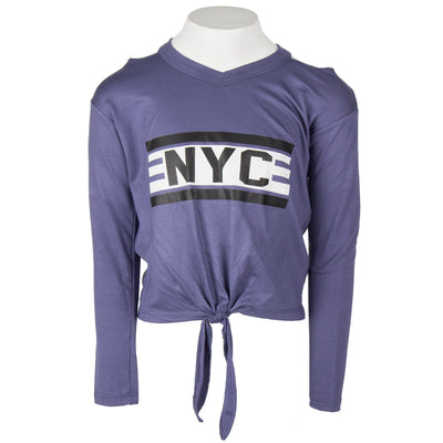 Long Sleeve Tie Front with NYC