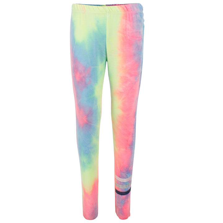 Rainbow Tie Dye Jogger with Stripes