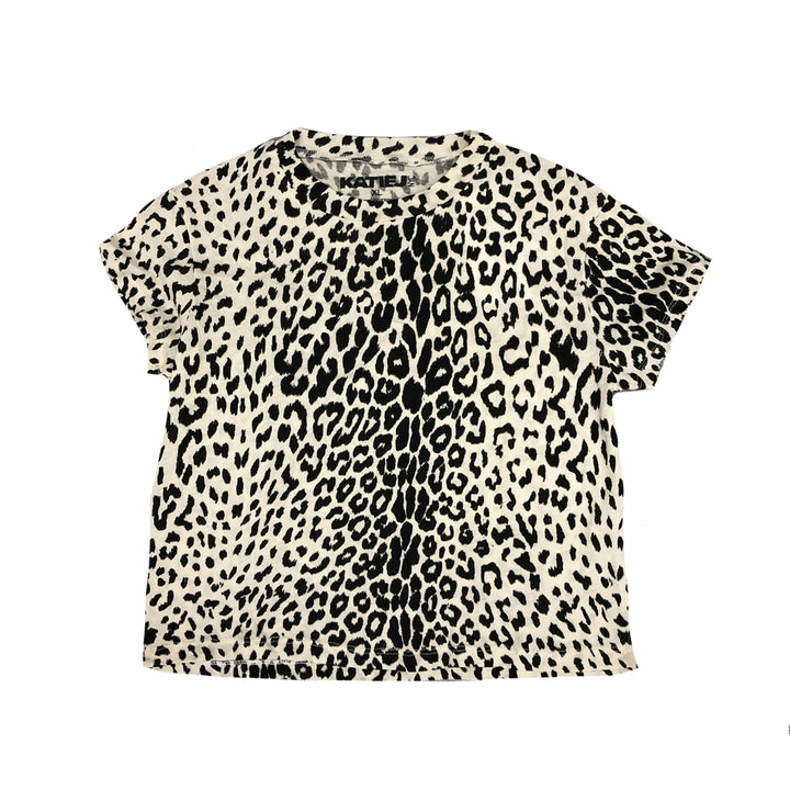 Kim Cropped Leopard Tee