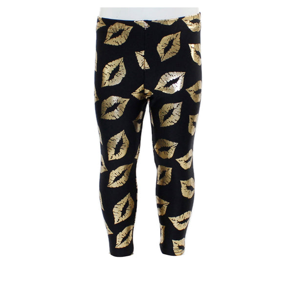 Legging with Gold Lips