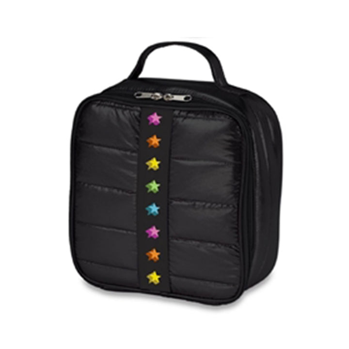 Black Puffer Stars Lunch Bag