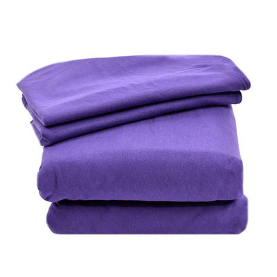 Four Piece Solid Jersey Sheet Set