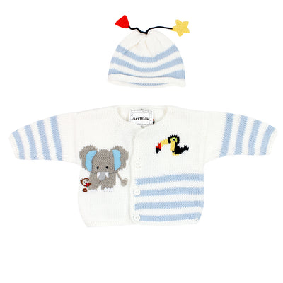 Two Piece Sweater Set Elephant and Friends