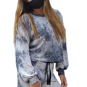 Space Dye Drop Shoulder Sweatshirt