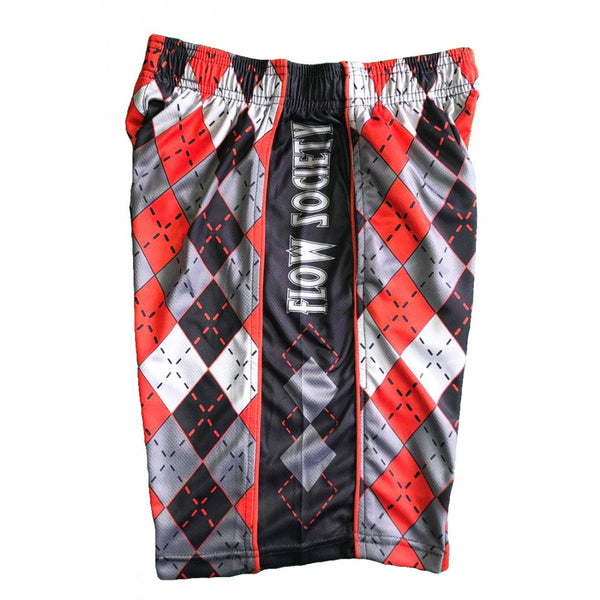 Argyle Red/Gry Short