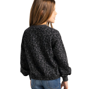 Long Sleeve Leopard Sweatshirt