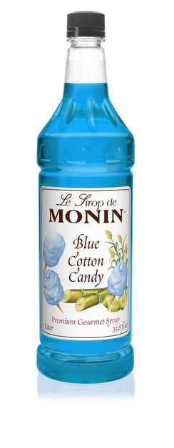 Monin® Syrups - Blue Cotton Candy - Case of 6/1 Liter - Bulk Coffee Beans