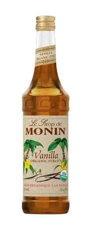 Monin® Syrups - Organic Vanilla - Case of 6/750 mL - Bulk Coffee Beans