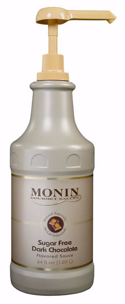 Monin® Sauces - Dark Chocolate (Sugar Free) - Case of 4 / 64 Oz. - Java Bean Plus