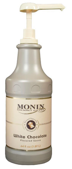 Monin® Sauces- White Chocolate - Case of 4 / 64 Oz. - Java Bean Plus