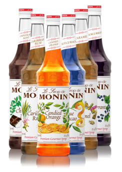 Monin Glass Bottles: Mix and Match (six 750ml bottles) - Java Bean Plus