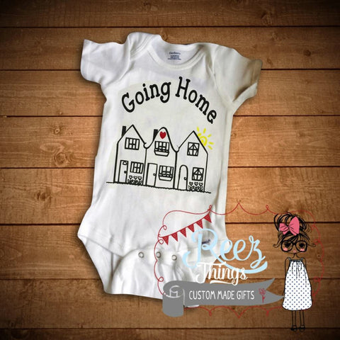 Going Home, Romper, Creeper, Bodysuit, baby shower, infant, baby, shirt, baby shower  gift