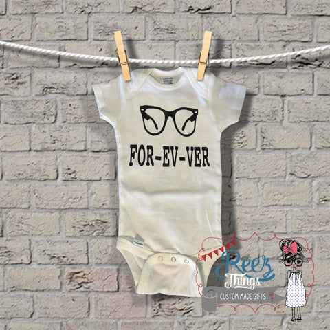 Funny, Custom, Forever, baby bodysuit, baby shower, Bodysuit, infant, baby, onesie, shirt,toddler