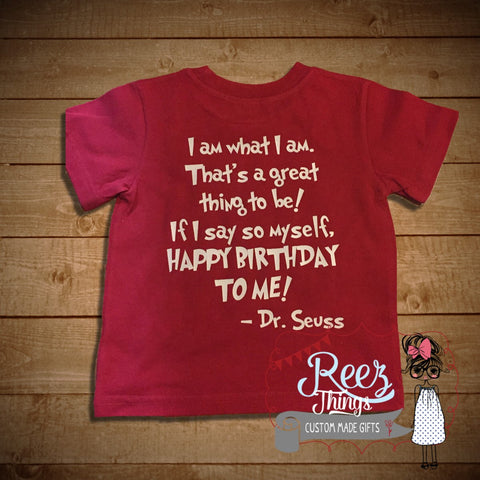 Funny Dr Seuss Red Tshirt Kids Childrens Shirt Top