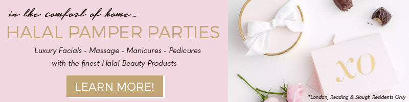Halal Pamper Parties are events hosted by Muslim women in the comfort of their home in Reading, Londong or Slough. They consist of luxury facials, massages, manicures and pedicures and experience the finest halal beauty products on the market.
