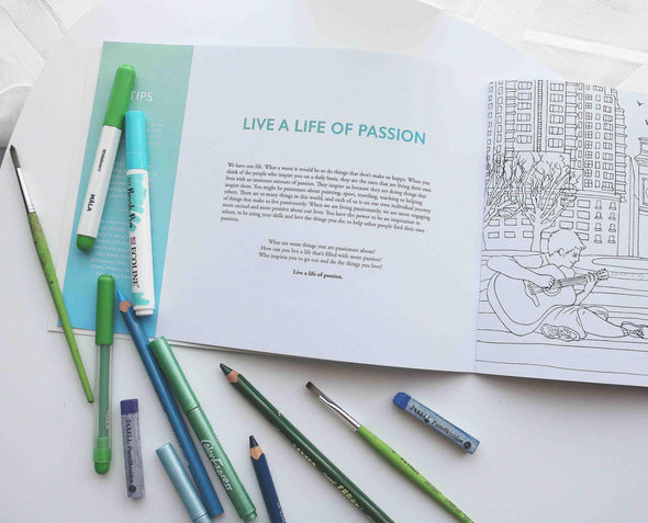 Colouring Book : The Adventures of Living