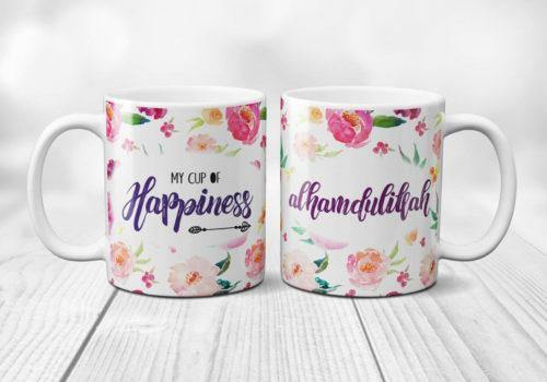 ''Alhumdulillah - My Cup of Happiness'' Faith Inspired Mug - Salam Gorgeous